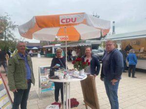 Wahlinfostand in Cadenberge